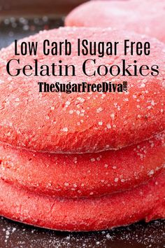I love how awesome this recipe for Sugar Free Gelatin Cookies is. The jello adds both color and taste! I love how awesome this recipe for Sugar Free Gelatin Cookies is. The jello adds both color and taste! Keto Cookies, Sugar Free Cookies, Yummy Cookies, Sugar Free Muffins, Sugar Free Frosting, Cookies Kids, Quick Cookies, Healthy Cookies, Sugar Free Baking