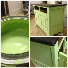 Buffet Makeover - Beautiful transformation with elbow grease, paint and stain! #paintedfurniture #homedecor #diyproject