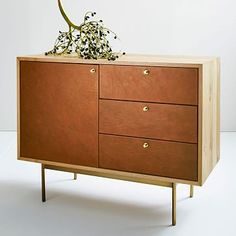 Michael Robbins Leather Front Buffet - Small #westelm