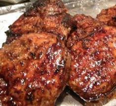 Recipe: Marinated pork chops from mom.- Recipe: Marinated pork chops from mom. Mother Recipe, Recipe For Mom, Root Beer Pork, Steaks De Porc, Meat Recipes, Dinner Recipes, Marinated Pork Chops, Bbq Salads, Pork Ham