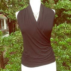 Temp Price DropBlack Blouse - Beautiful Neckline Fits extra small to small. Great condition. Really lovely top. Tops Blouses