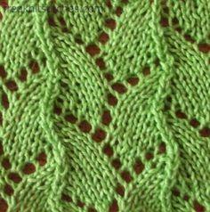Serpent knitting stitches