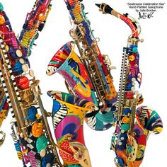 Hoping you'll love this... Colorful Saxophone, Custom Painted Saxophone, Hand Painted Saxophone, Jazz Saxophone, Peacock Saxophone, Music Decor, Juleez FREE SHIPPING https://www.etsy.com/listing/539179126/colorful-saxophone-custom-painted?utm_campaign=crowdfire&utm_content=crowdfire&utm_medium=social&utm_source=pinterest
