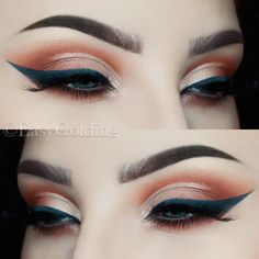 Warm Half Cut Crease by Easy Golding (@easygolding) -> Instagram   Brows: @anastasiabeverlyhills #dipbrowpomade in Chocolate Eyes: @anastasiabeverlyhills Single Eyeshadows in Birkin, Blazing, Red Earth & Pink Champagne Liner: @colourpopcosmetics Fast Lane Gel Liner Lashes: @hellagoodlashes Partyart Brushes: @sigmabeauty @zoevacosmetics