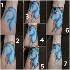 Face Painting Unicorn, Girl Face Painting, Face Painting Tips, Face Painting Tutorials, Unicorn Face, Air Brush Painting, Painting For Kids, Body Painting, Art For Kids