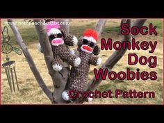 Sock Monkey Stuffed Woobie Crochet Pattern By Sara Sach of  Posh Pooch Designs The Sock Monkey Woobie can be made in 2 sizes ...