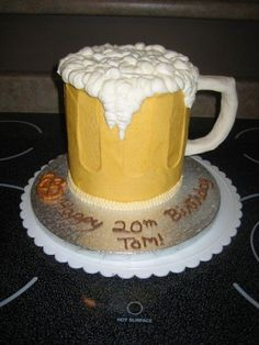 "Beer Mug made out of 4-6"" rounds, all buttercream with..."