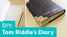 For the Harry Potter fans! Learn how to make Tom Riddle's diary and check out Lauren Fairweather's video on how to make a Monster Book of Monsters plush!