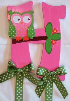 Cute owl hair bow holder!