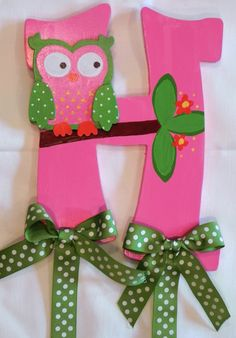 Cute owl hair bow holder!