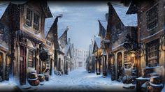 Pottermore Background: Diagon Alley at Christmas by xxtayce on DeviantArt