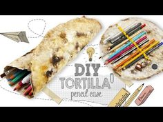 DIY | Tortilla Pencil Case Tutorial - Weird Back To School Supplies You NEED to Try - YouTube