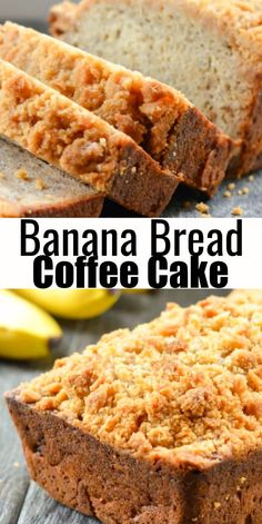 Banana Bread Coffee Cake is a favorite loaf of banana bread. A delicious moist crumb with a brown sugar crumb topping that is great for breakfast, brunch, or dessert from Serena Bakes Simply From Scratch. Fruit Bread, Dessert Bread, Bread Cake, Dessert Simple, Cupcake Recipes, Cupcake Cakes, Dessert Recipes, Cupcakes, Coffee Cake