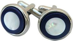 Round Silver Cuff Links with Lapis and Mother of Pearl http://store.classiclegacy.com/178/gifts-for-you/cuff-links   #cufflinks #giftsformen #fathersday