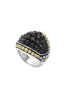 @lagosjewelry Black Caviar   Caviar Onyx Ring   LAGOS.com  #loveLAGOS and #StackWithBlack