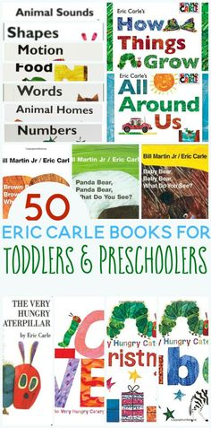 Do you have a favorite Eric Carle book? Here are 50 fabulous Eric Carle books for toddlers and preschoolers.