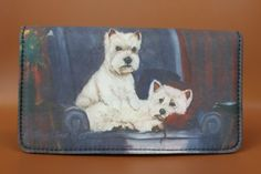 West Highland White Terrier Dog 4 14 x 7 14 wallet by Ruth Maystead -- Check this awesome product by going to the link at the image. West Highland Terrier, Wallets For Girls, West Highland White, White Terrier, Terrier Dogs, Westies, Card Wallet, Artist