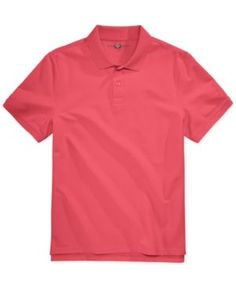 Club Room Men's Anson Pique Polo, Only at Macy's - Pink 3XL