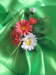 Ромашки своими руками /1 часть/ Цветы из ткани. Мастер класс.