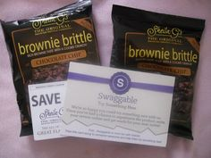 Courtesy of Swaggable, Chocolate Chip Brownie Brittle sample!