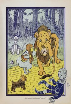 Dorothy Meets the Cowardly Lion Postcard