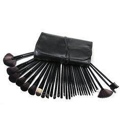 Lychee Beautiful 32pcs Cosmetic Makeup Makeup Brush Set with Free Bag Black *** Click on the image for additional details. (Note:Amazon affiliate link)