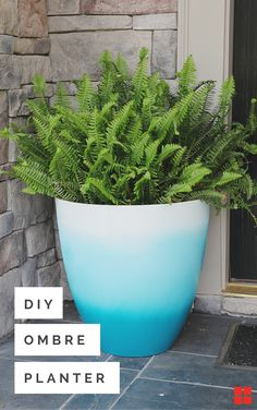 What are you planting this weekend? Fade to blue or whatever hue your heart desires with this easy DIY Ombre Pot project. It's the perfect punch of color for a front or back porch but can easily fit into interior decor with a house plant. Better yet picture your window box planters with all the shades of grey that you'd love to paint the exterior of your home if it didn't cost a fortune. Now back to reality... get gardening already!