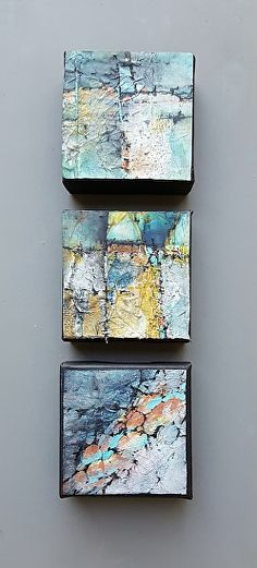 "Small Mountain Capes II-Abstract Landscape by Gerri Calpin Acrylic ~ 20"" x 9""-Mixed Media, Contemporary Abstract Art ""SMALL MOUNTAIN CAPES II"" by Contemporary Artist Gerri Calpin"