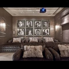 Loving this theater room. So glam!... - Interior Design Ideas, Interior Decor and Designs, Home Design Inspiration, Room Design Ideas, Interior Decorating, Furniture And Accessories