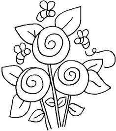 cute flowers to embroider
