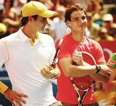 Roger Federer and Rafael Nadal  THE icons of tennis