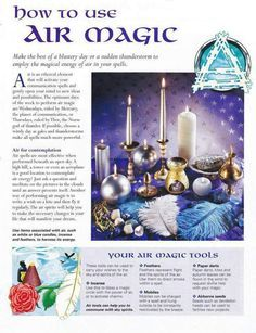 Mind, Body, Spirit Collection - How To Use Air Magic Wicca Witchcraft, Magick Spells, Hoodoo Spells, Air Magic, Elemental Magic, Eclectic Witch, Practical Magic, Mind Body Spirit, Book Of Shadows