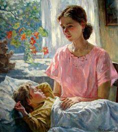 Mother And Son Marina Chulovich (1956, Russian)