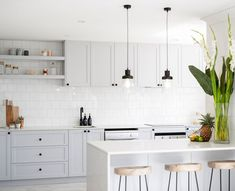 Capital Small kitchen cabinets glass tricks,Kitchen remodel on a dime ideas and Small kitchen farmhouse remodel tricks. Grey Kitchen Cabinets, Kitchen Cabinet Design, Kitchen Interior, Kitchen Grey, Beige Cabinets, Neutral Kitchen, Kitchen Island, Rustic Kitchen, New Kitchen