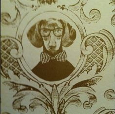 Close-up of the 'tillsammans' wallpaper in the Hound Bar at Houndgate Townhouse, Darlington, England.