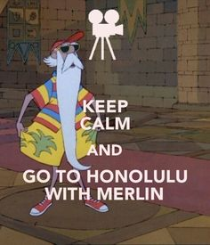 Keep Calm and Go to Honolulu with Merlin