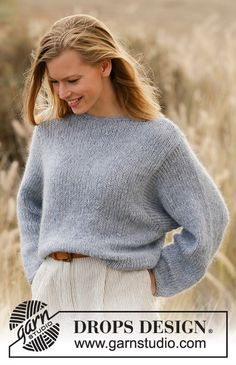 Did you know there are over 200 DROPS catalogues filled with thousands of free knitting patterns and crochet patterns for the whole family? Sweater Knitting Patterns, Knit Patterns, Free Knitting, Finger Knitting, Knitting Machine, Drops Design, Sky E, Best Jeans For Women, Work Tops