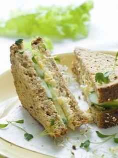 Sandwiches ingleses de pepino
