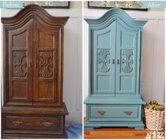 Awesome furniture makeover with Kitchen Scale and a great tutorial on properly prepping furniture to paint by Beth from Home Stories A to Z.