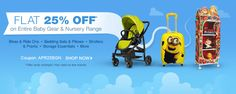 Flat 25% OFF #Baby #Gear & #Nursery #Discount #Coupon Codes