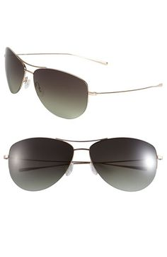 Oliver+Peoples+'Strummer'+63mm+Metal+Aviator+Sunglasses+available+at+#Nordstrom