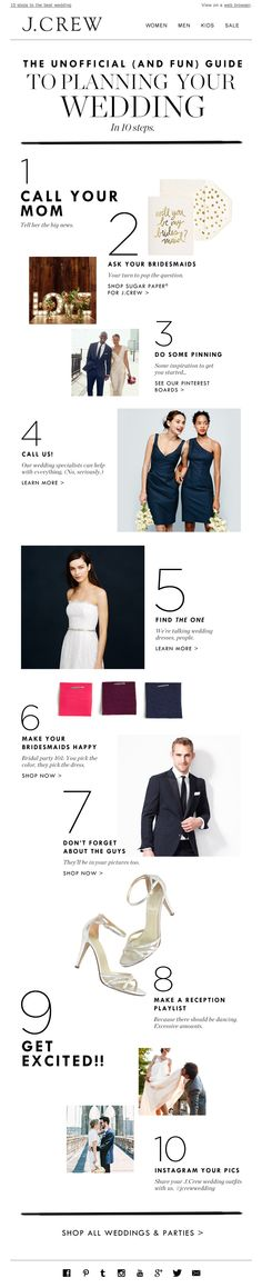 J. Crew wedding email 2014