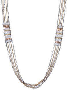 Mixed Metal & White Delicate Layering Necklace   Dakota Necklace   Stella & Dot