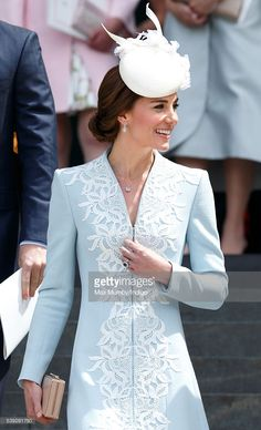 Catherine, Duchess of Cambridge attends a national service of thanksgiving to mark Queen Elizabeth II's 90th birthday at St Paul's Cathedral on June 10, 2016 in London, England.