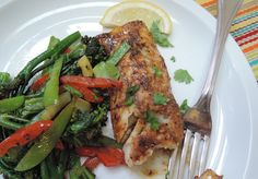 The Briny Lemon: Blackened Mahi-Mahi with Pan-Seared Vegetables