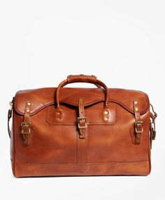 2f172843c2 Brooks Brothers J.W. Hulme Leather Small Duffel Bag Travel Bags, Travel  Wear, Mens Luggage