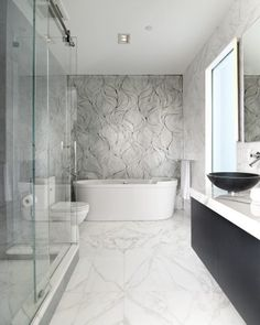 Marble Bathroom With Awesome Design Ideas Tags: marble tile bathroom marble bathroom accessories white marble bathroom marble bathroom countertops marble bathroom floor marble top bathroom vanity carrara marble bathroom Marble Countertops Bathroom, Marble Bathroom Floor, White Marble Bathrooms, Modern Bathroom, Master Bathroom, Marble Floor, Contemporary Bathrooms, Commercial Interior Design, Bathroom Interior Design