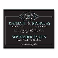 A flourish of design draws attention to 'Save the Date,' which introduces recipients to your upcoming wedding celebration. The flourish frame, your names and wedding date change with your choice of imprint color. White imprint only for all other wording. Envelopes are included with this save the date. Make these into save the date magnets with a simple upgrade in paper.