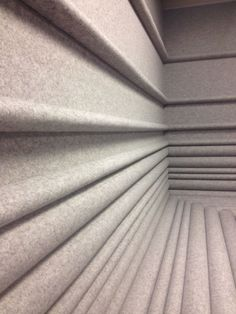 commercial, residential interior built-in seating,wall covering FilzFelt Architecture Details, Interior Architecture, Interior Design, Arch Interior, Commercial Design, Commercial Interiors, Wall Patterns, Textures Patterns, Acoustic Panels
