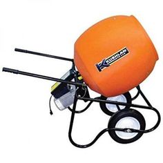 Kushlan Products 600GAS Unassembled Wheel Barrow Cement Mixer, Multicolor